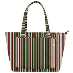 Green Pinstripe Back Pocket Shoulder Bag  by designbywhacky