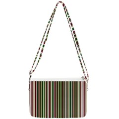 Green Pinstripe Double Gusset Crossbody Bag by designbywhacky