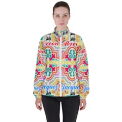 Floral Women s High Neck Windbreaker