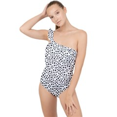 I See Spots Frilly One Shoulder Swimsuit by VeataAtticus