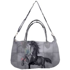 Wonderful Black And White Horse Removal Strap Handbag