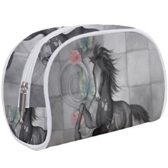 Wonderful Black And White Horse Makeup Case (large)