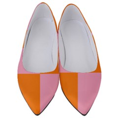 Mod Pink And Orange Squares Women s Low Heels