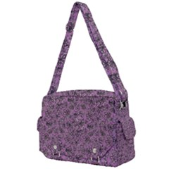 Lavender Black White Floral Abstract     Buckle Multifunction Bag by 1dsign