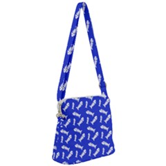 Fish Royal Blue Zipper Messenger Bag