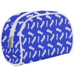 Fish Royal Blue Makeup Case (large)
