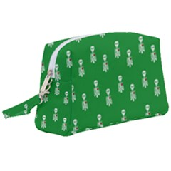 Skeleton Green Background Wristlet Pouch Bag (large) by snowwhitegirl