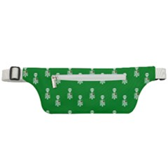 Skeleton Green Background Active Waist Bag