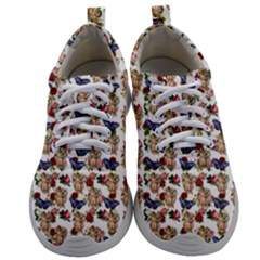 Angel Cherub Butterflies White Mens Athletic Shoes by snowwhitegirl