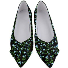 Carnation Pattern Black Women s Bow Heels