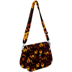 Funny Halloween Design Saddle Handbag