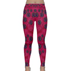 The Dark Moon Fell In Love With The Blood Moon Decorative Classic Yoga Leggings by pepitasart