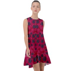The Dark Moon Fell In Love With The Blood Moon Decorative Frill Swing Dress