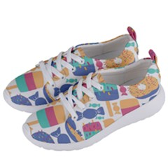 Icecream Pattern Pastel Sumer Women s Lightweight Sports Shoes by Vaneshart