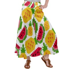 Watermelon Pattern Se Fruit Summer Satin Palazzo Pants