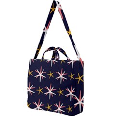 Sea Stars Pattern Sea Texture Square Shoulder Tote Bag by Vaneshart