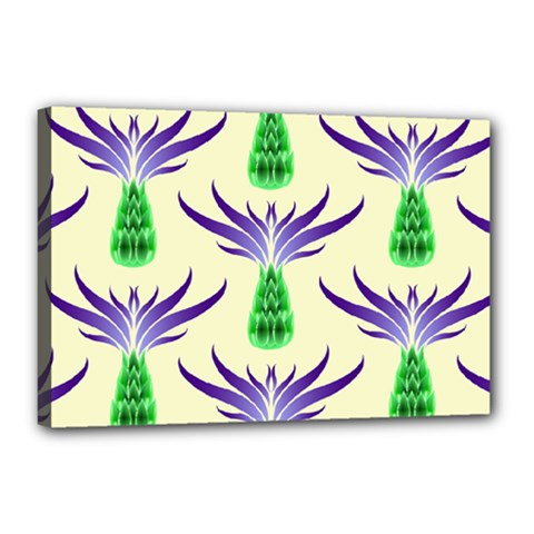 Thistles Purple Flora Flowering Canvas 18  X 12  (stretched)