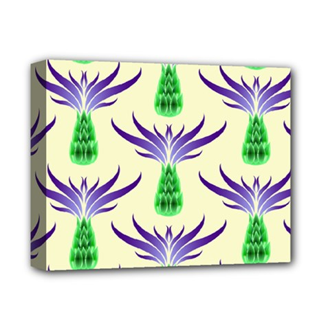 Thistles Purple Flora Flowering Deluxe Canvas 14  X 11  (stretched)