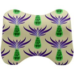 Thistles Purple Flora Flowering Head Support Cushion