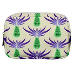 Thistles Purple Flora Flowering Make Up Pouch (small)