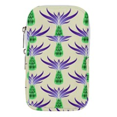 Thistles Purple Flora Flowering Waist Pouch (small)