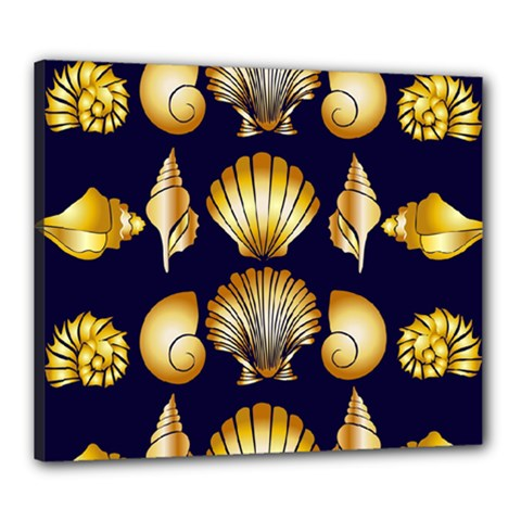 Snails See Shells Golden Canvas 24  X 20  (stretched)