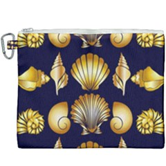 Snails See Shells Golden Canvas Cosmetic Bag (xxxl)