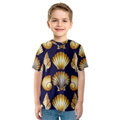 Snails See Shells Golden Kids  Sport Mesh Tee