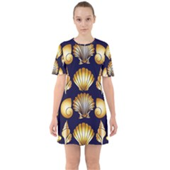 Snails See Shells Golden Sixties Short Sleeve Mini Dress
