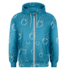 Bubble Group Pattern Abstract Men s Zipper Hoodie