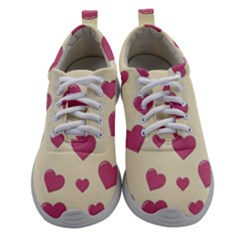 Flat Love Symbol Pattern Women Athletic Shoes