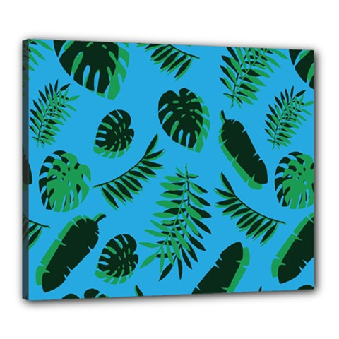 Tropical Leaves Nature Canvas 24  X 20  (stretched)