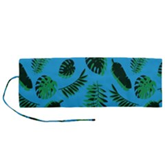 Tropical Leaves Nature Roll Up Canvas Pencil Holder (m)