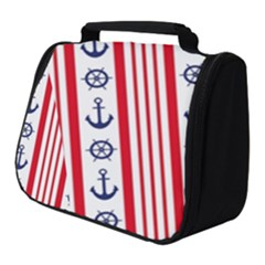 Nautical Papers Nautical Background Full Print Travel Pouch (small)