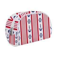 Nautical Papers Nautical Background Makeup Case (small) by Vaneshart
