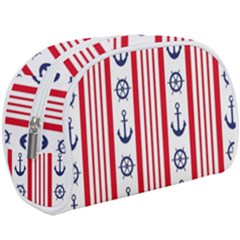 Nautical Papers Nautical Background Makeup Case (large)