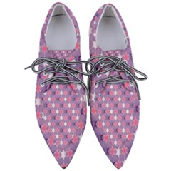 Abstract Pattern Geometry Gradient Women s Pointed Oxford Shoes
