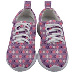 Abstract Pattern Geometry Gradient Kids Athletic Shoes by Vaneshart