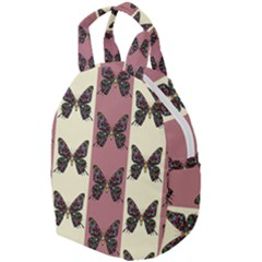 Butterflies Pink Old Old Texture Travel Backpacks