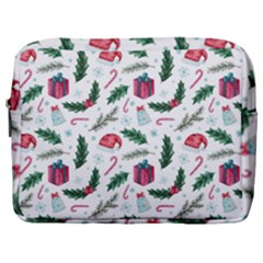 Christmas Background Make Up Pouch (large) by Vaneshart