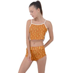 Halloween Background Summer Cropped Co Ord Set