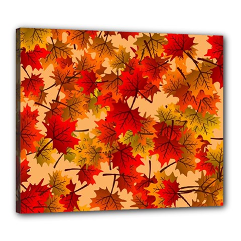 Wallpaper Background Autumn Fall Canvas 24  X 20  (stretched)