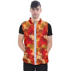 Wallpaper Background Autumn Fall Men s Puffer Vest by Vaneshart