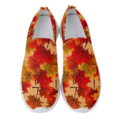Wallpaper Background Autumn Fall Women s Slip On Sneakers