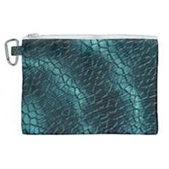 Texture Glass Network Glass Blue Canvas Cosmetic Bag (xl)