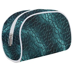 Texture Glass Network Glass Blue Makeup Case (medium)