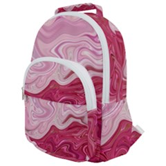 Liquid Marble Trending Abstract Paint Rounded Multi Pocket Backpack