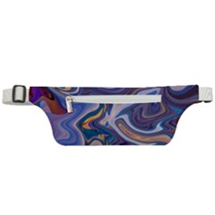 Liquid Marble Background Active Waist Bag