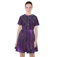 Abstract Form Pattern Texture Sailor Dress