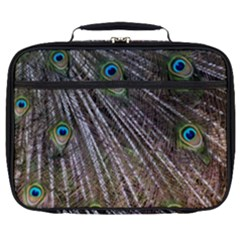 Peacock Feathers Pattern Colorful Full Print Lunch Bag by Vaneshart